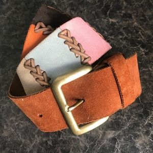 NWT Lucky Brand Multicolor Leather Belt Small
